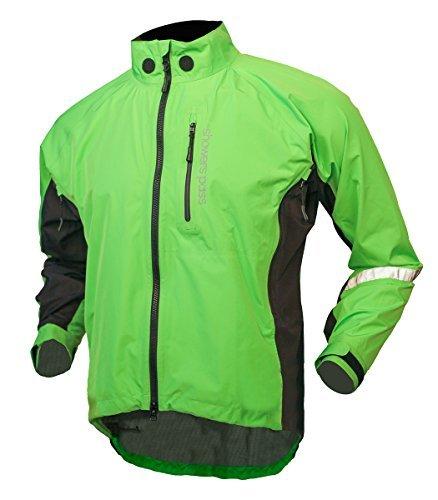 Showers Pass Men's Double Century RTX Jacket, Lime, Large by Showers Pass (Showers Pass Double Century compare prices)
