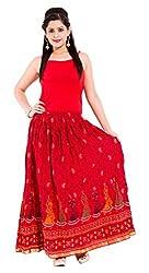 Magnus Women's Cotton Skirt (DVSKT3023_38 Orange, 38)