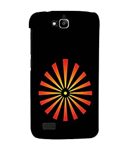 printtech Aura Rays Back Case Cover for Huawei Honor Holly