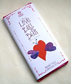 Organic Milk 37% 'Love Bug' Design Chocolate Bar