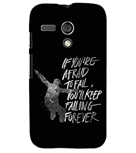 PRINTSWAG QUOTE Designer Back Cover Case for MOTOROLA MOTO G