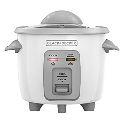3-Cup Cooked/1.5-Cup Uncooked Compact Rice Cooker in White by Black & Decker from Black & Decker