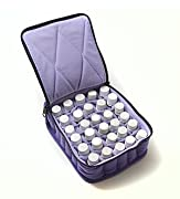 30-Bottle Essential Oil Carrying Cases hold 5ml, 10ml and 15ml bottles - Deep Purple with Lavender interior - 3