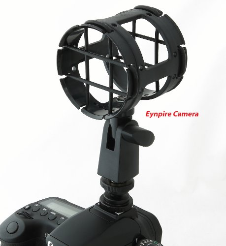 Eynpire Camera Universal Microphone Shockmount With Hotshoe ,1/4-20,3/8 ,5/8 Connectors Included ,Perfect For Zoom H1 , Senheisser Me66 ,Rode Ntg-2,Ntg-1 ,Audio-Technica At-875R And Many More