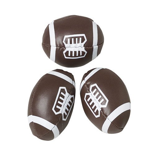 "Dozen Mini (2.5"") Stuffed Vinyl Covered Foam Footballs"