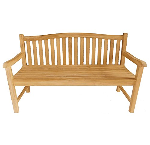 Bentley Garden Solid Wooden Teak Garden Java Bench 5Ft 3 Seater