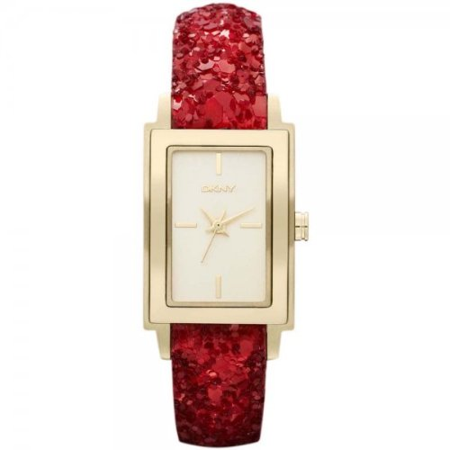 DKNY Glitz Gold-Tone Dial Women's Watch #NY8711