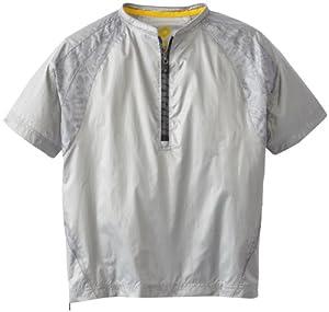 DeMarini Boy's Unhinge-D Short Sleeve Batting Practice Jacket, Grey, Small