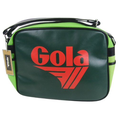 Gola Red Green Lime Black Redford Shoulder Record Bag