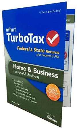 TurboTax Home and Business Fed, Efile and State 2013