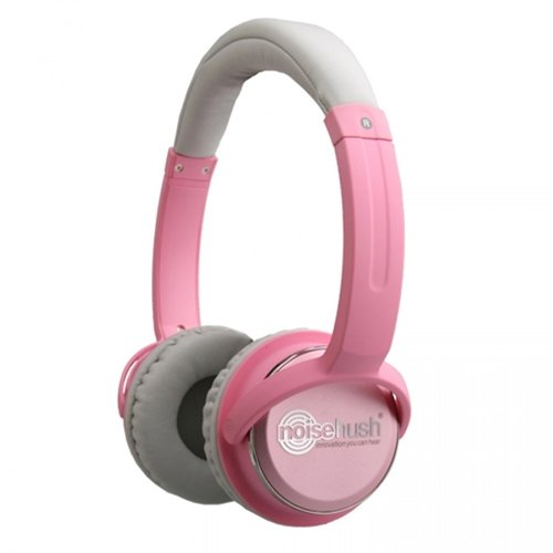 Noisehush Nx26-11950 3.5Mm Stereo Headphones With In-Line Mic For All Apple Ipad/Iphone/Ipod/Mps Players/Laptops, Light Pink