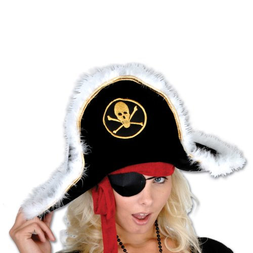 Beistle Adult Plush Pirate Captain Hat