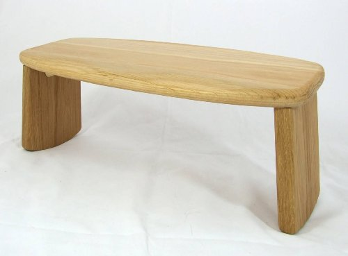 Oak Hardwood Folding Meditation Stool Seiza Bench