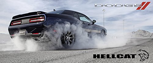 2016 Dodge Challenger Hellcat Poster Srt8 Mopar Large Charger Viper Muscle Burnout (Poster Of Dodge Challenger compare prices)