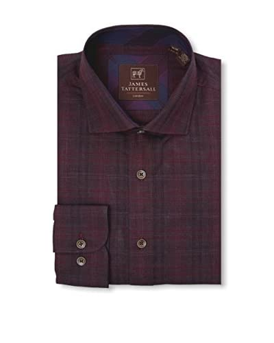 James Tattersall Men's Woven Long Sleeve Shirt