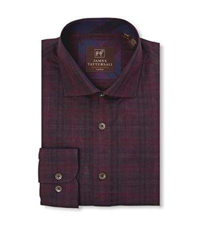 James Tattersall Men's Woven Long Sleeve Shirt