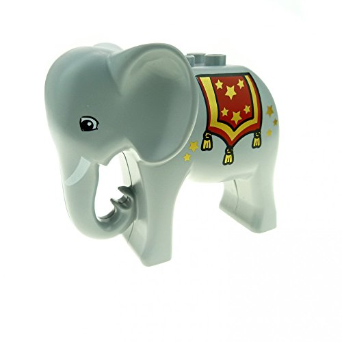 1 x Lego Duplo Tier Elefant hell grau groß mit