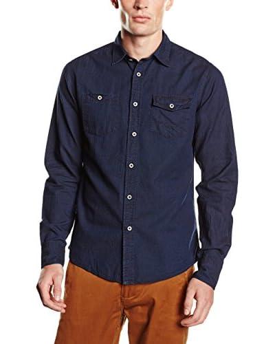 Springfield Camisa Hombre Oxford Indigo