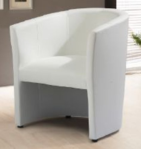 Design Cocktailsessel Sessel Clubsessel Loungesessel Club Möbel Bürosessel Praxismöbel weiss