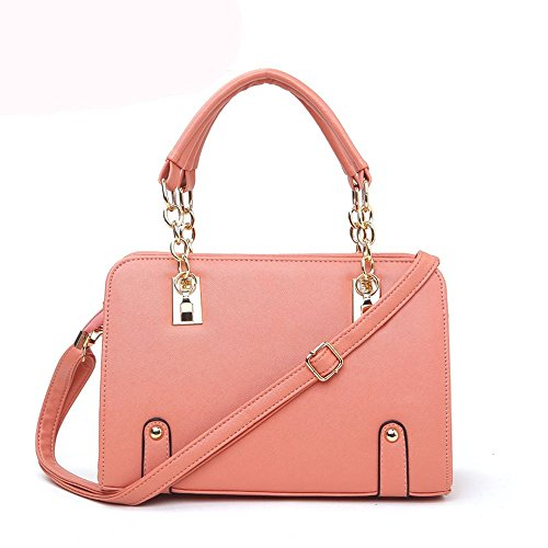 koson-man-womens-patent-leather-matel-shoulder-tote-bags-top-handle-handbagwaterpink