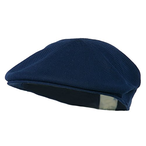 76d67ea71b2 Mens Knitted Polyester Ivy Ascot Newsboy Hat Cap Navy Blue - Import ...