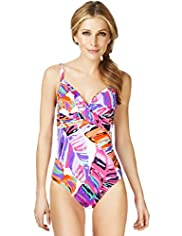 Abstract Palm Print Underwired Swimsuit
