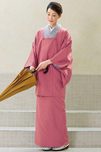 きもの都粋 二部式雨コート ピンク系 フリーサイズ 身丈 85? 裄丈 68? 袖丈 48?