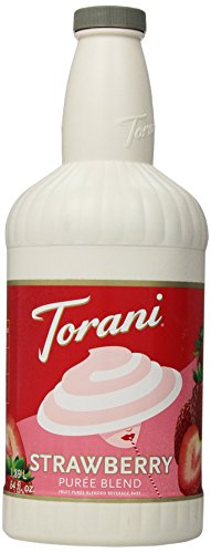 Torani Puree Blend, Strawberry, 64 Ounce