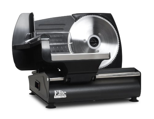 Elite Gourmet EMT-503B Maxi-Matic 130 Watt Die-Cast-Aluminum Electric Food Slicer, Black (Restaurant Slicer compare prices)