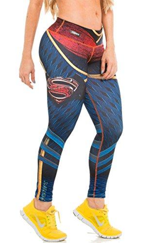 Fiber Batman v Superman Leggings Superhero Yoga Pants Women's Compression Tights