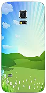 Snoogg Spring Background Vector Illustration Designer Protective Back Case Co...