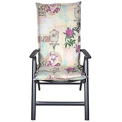Lesli Auflage für Hochlehner MANHATTAN Stuhlauflage Sitzkissen Sitzpolster von Lesli Living bei Gartenmöbel von Du und Dein Garten