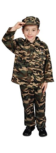"""Military Officer Set Child Costume Small 4-6 (31"""" waist, 45"""" height)"""