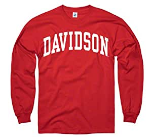 Davidson Wildcats Red Arch Long Sleeve T-Shirt