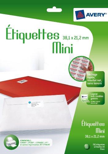 Avery mini-étiquettes J8651-12