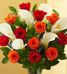 Flowers by 1800Flowers - Fall Rose and Calla Lily Bouquet