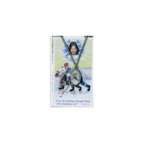 Pewter St. Christopher Medal  Prayer Card - Ice