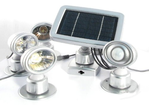 Lunartec Solar 3 LED-Strahler & Bewegungsmelder
