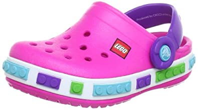 Crocs 12080-6N4-125, Mules fille, Rose (Neon Magenta/Neon Purple), 29-31 EU