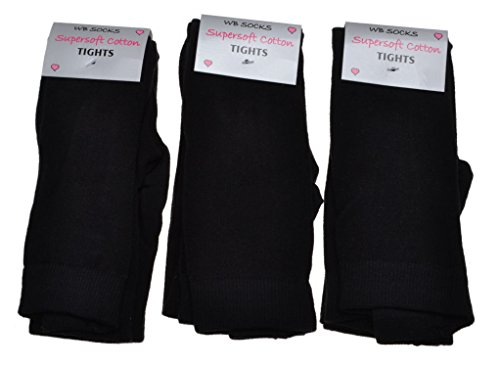 4-pairs-of-plain-black-childrens-tights-choice-of-sizes