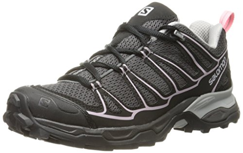Salomon Women's X Ultra Prime Hiking Shoe, Autobahn/Black/Sakura Pink, 8 M US