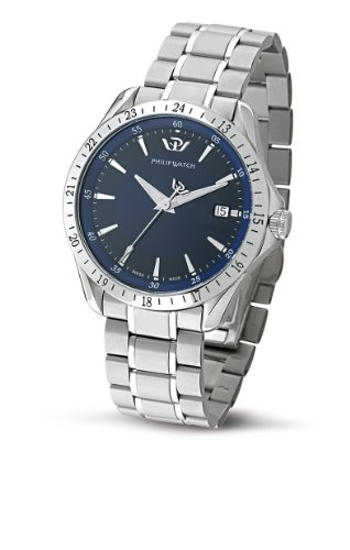 Philip Men's Blaze Analogue Watch R8253165235 with Quartz Movement, Blue Dial and Stainless Steel Case
