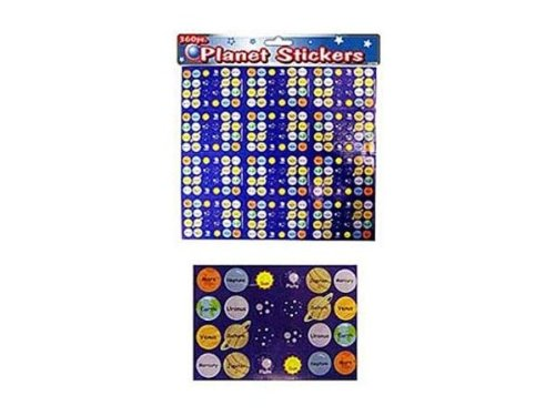Planet Stickers, Package of 360 - Case of 24