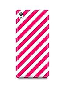 Pink Stripes Sony Z3 Case