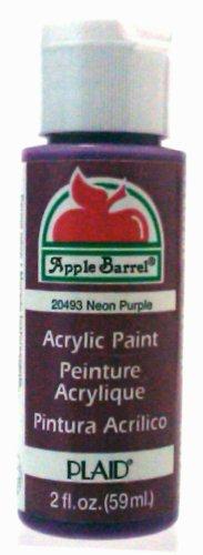 Plaid 20493 Apple Barrel 2-Ounce Acrylic Paint, Neon Purple front-653204