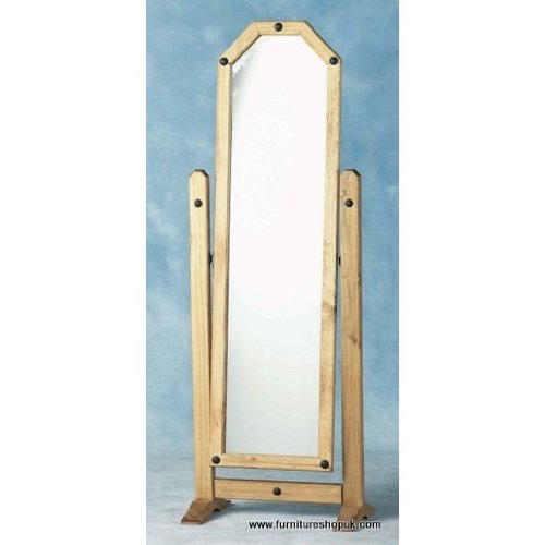 Seconique Corona Pine Cheval Mirror
