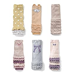 KID\'S BASIC Set of 6 Baby & Toddler Ruffles Leg Warmer Collection Premium Value Pack (Set A)