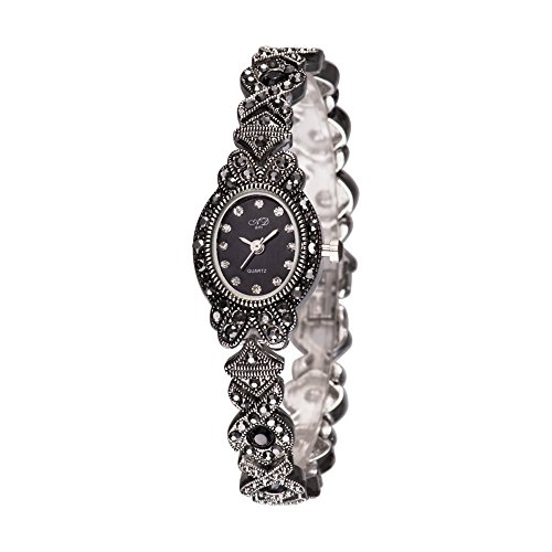TAWURS Black Retro Ladies Watches in women