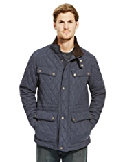 Blue Harbour Water Resistant Quilted Fleece Lined Coat