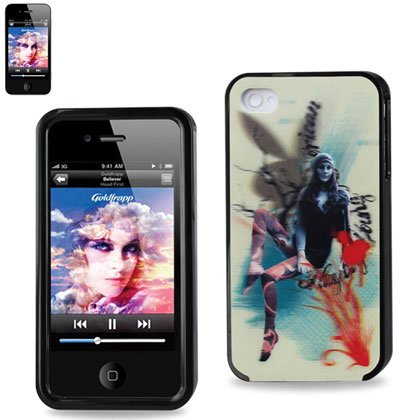 Apple 3D Protector Cover For Iphone 4 P15 - Retail Packaging - Black
